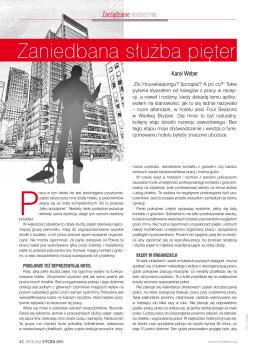 Zaniedbana Służba Pięter – magazyn Hotelarz
