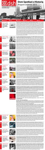 wrzesień 2013 - Dom Spotkań z Historią