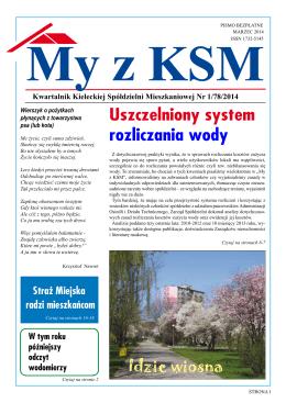 Marzec 2014 - Kielecka Spółdzielnia Mieszkaniowa