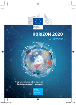 Horizon 2020 w skrócie – 2014