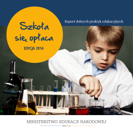 Raport dobrych praktyk edukacyjnych