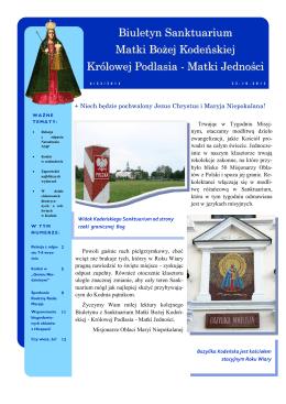 Biuletyn Sanktuarium Matki Bożej Kodeńskiej Królowej Podlasia