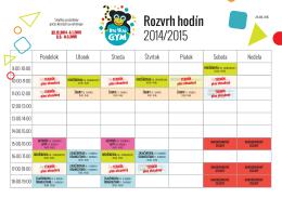 Rozvrh hodín 2014/2015