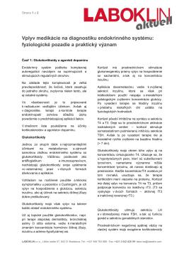 Vplyv medikácie na diagnostiku endokrinného systému