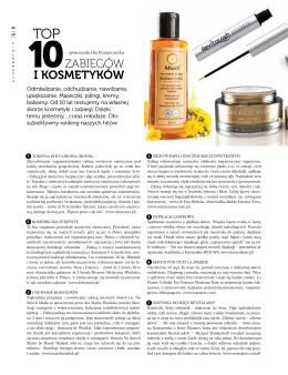 Top 10 zabiegów i kosmetyków