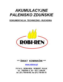 Pobierz dokumentację techniczno-ruchową (PDF) - Robi-Ren