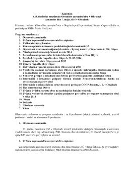 Návrh na uznesenie