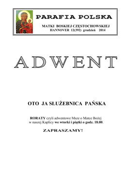 PARAFIA POLSKA - Polska Misja Katolicka w Hanowerze