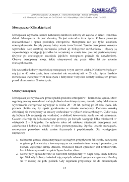 Menopauza (Klimakterium) - Centrum Medyczne OLMEDICA