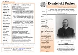 časopis Evanjelický Púchov 2/2011