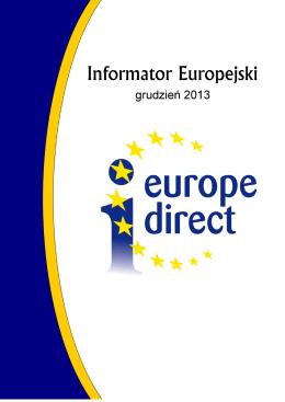 Informator Europejski – Grudzień 2013 - Europe Direct Bielsko