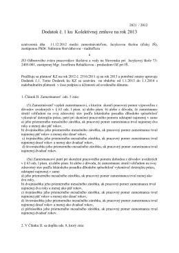 Kolektívna zmluva na rok 2013 (pdf)