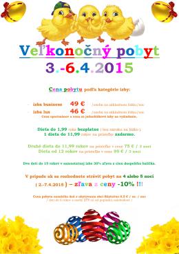 Veľkonočný pobyt 3.-6.4.2015