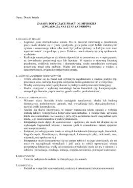 Zasady dotyczące pracy olimpijskiej