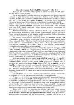 """Činnosť Asociácie ZUŠ SR """"EMU-Slovakia"""" v roku 2013"""