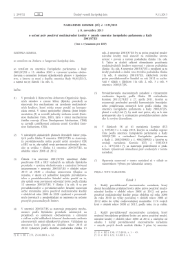 Nariadenie Komisie (EÚ) č. 1123/2013 z 8. novembra