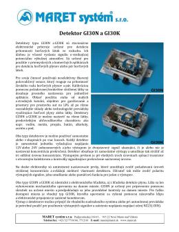 Detektor GI30N a GI30K