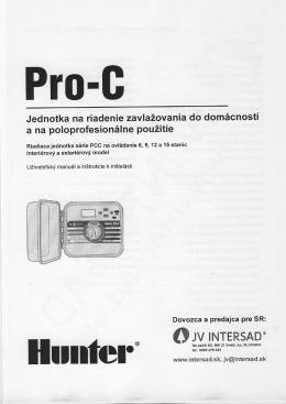 Pro-C manuál - JV intersad