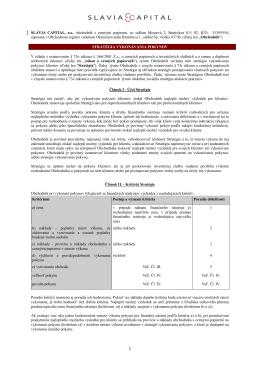 Stratégia vykonávania pokynov (pdf)
