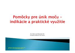 Doc. MUDr. Jozef Marenčák, PhD. Urologické oddelenie FNsP Skalica