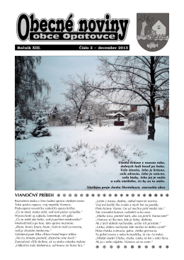 Obecné noviny - december 2013
