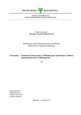 Ćwiczenie 1 - Politechnika Białostocka