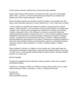 výzvu na podporu - Blog JeToTak.sk