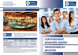 profesionálny majster certifikovaný manažér údržby