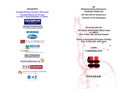 program sympozjum (programme) - Uniwersytet Medyczny w Lublinie