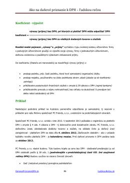 ukážka z textu - Daňové priznanie k DPH