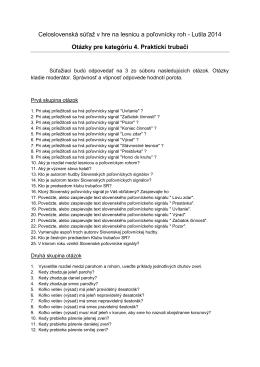 Otázky pre kategóriu 4. praktickí trubači