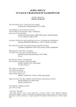 Mirosław Krajewski, Aurea dicta o nauce i badaniach