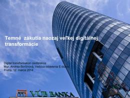 VÚB Banka – súčasť skupiny Intesa Sanpaolo