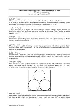 planimetria i geometria na płaszczyźnie kartezjańskiej