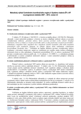 Metodický výklad CKO z 19. 01. 2011