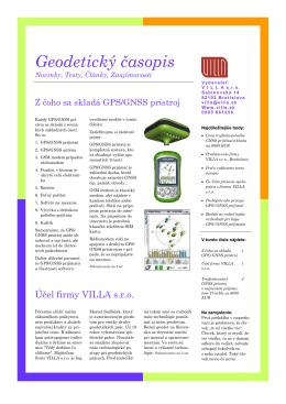 Geodetický časopis