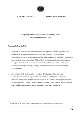 European Council conclusions on completing EMU