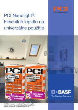 PCI Nanolight®: Flexibilné lepidlo na univerzálne použitie