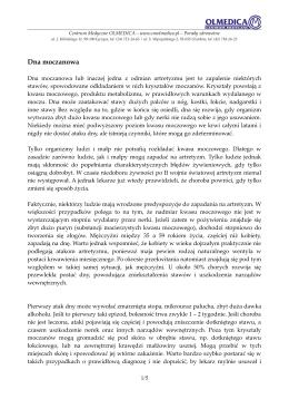 Dna moczanowa - Centrum Medyczne OLMEDICA