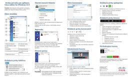Krátka príručka pre aplikáciu Cisco Jabber for Windows 10.5