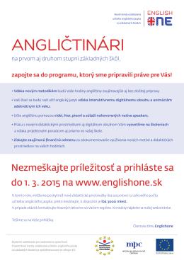 List - Nové trendy vzdelávania učiteľov anglického jazyka na