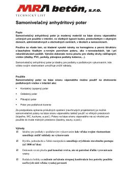 Anhydrit, technický list [PDF]
