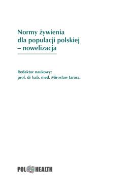 Normy żywienia dla populacji polskiej – nowelizacja