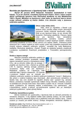 Novinka pre športovcov v športovej hale v Seredi