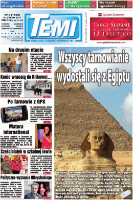 Wszyscy tarnowianie, którzy wypoczywali w Egipcie w chwili