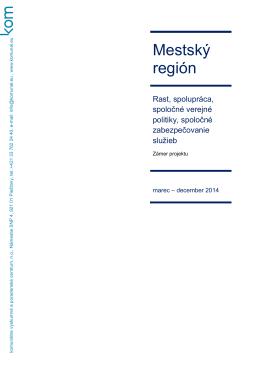 Článok o mestských regiónoch