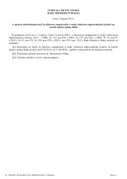 Uchwała Rady Miejskiej w Białej nr XXV.278.2013 z dnia 02