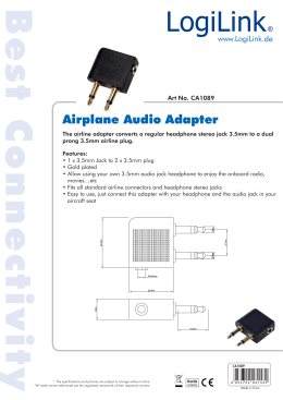 Airplane Audio Adapter