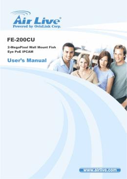 AirLive FE-200CU Manual