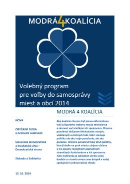 Náš program - MODRÁ 4 KOALÍCIA